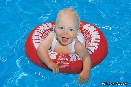 شنای نوزادان