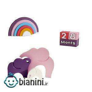 استند رومیزی کودکطرح فیلی مجموعه 3 عددی