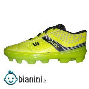 کفش فوتبال پسرانه مدل چمنی کد 001 رنگ سبز فسفری