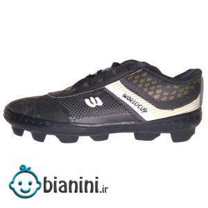 کفش فوتبال پسرانه مدل چمنی 001 رنگ مشکی