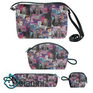 کیف دخترانه طرح بیلی ایلیش کد b11 مجموعه 4 عددی